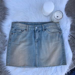 Lucky Brand Dungarees American Classic Jean Skirt